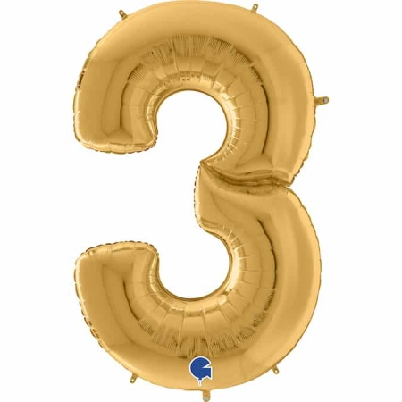 Maxi Zahl Gold 3