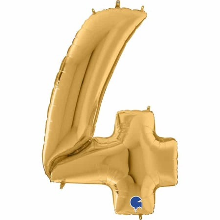 Maxi Zahl Gold 4