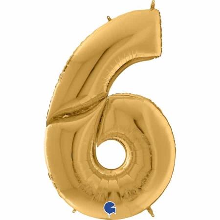 Maxi Zahl Gold 6