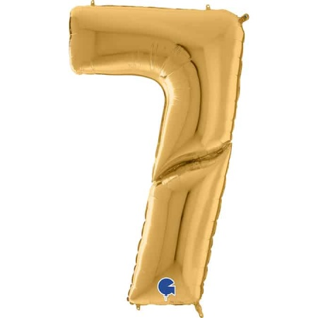 Maxi Zahl Gold 7