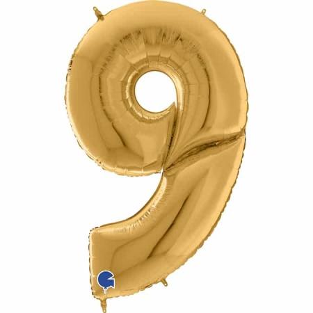 Maxi Zahl Gold 9
