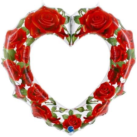 72016 Red Roses Heart Frame 1