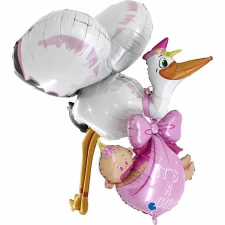 73051 Maxiloons Baby Girl Stork