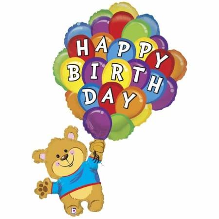 85820 Birthday Balloon Bear