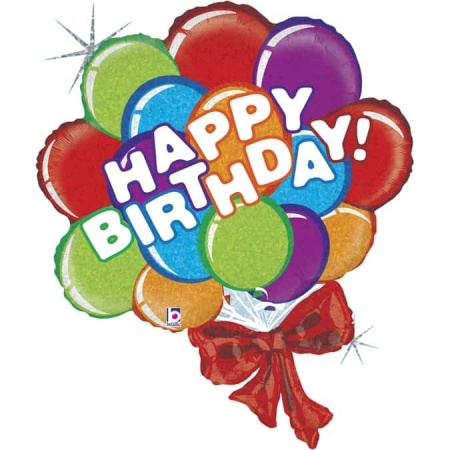 85893H Birthday Balloon Bow