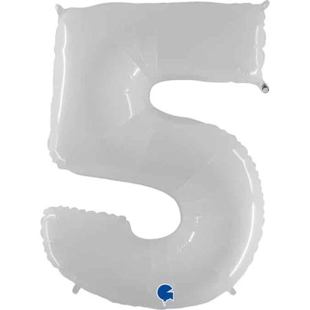 Zahl 5 Weiß