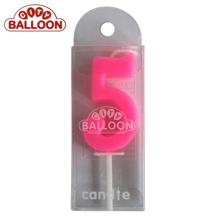 Kerze pink 5