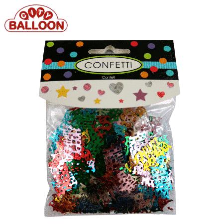 Konfetti kleine Packung HappyBirthday verpackt 1
