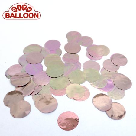 Lose rund foil rosa