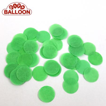 Lose rund paper grün