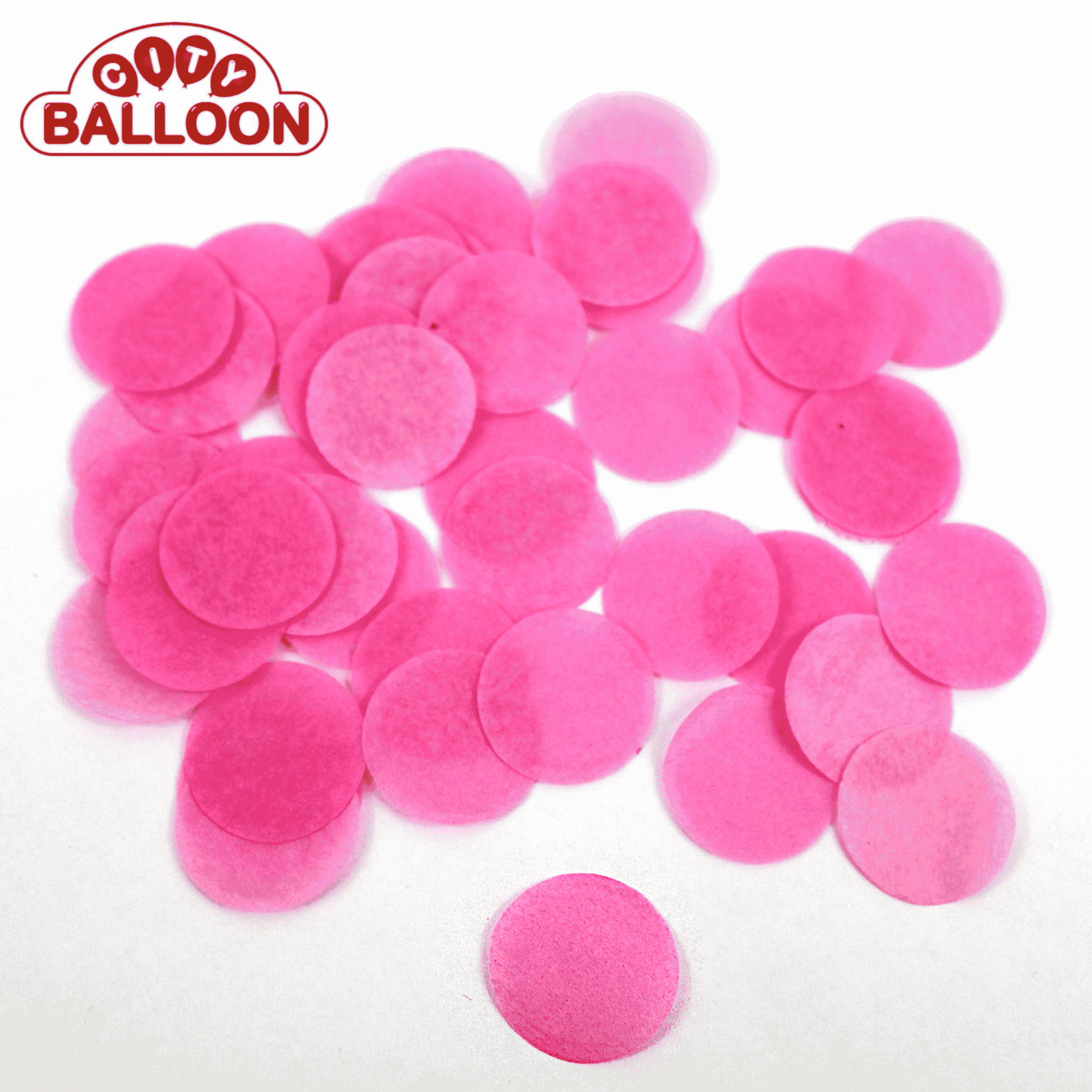 Lose rund paper pink