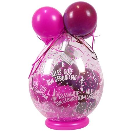 Verpackungsballon-Eigen-Alles-Gute-Pink-Rosa