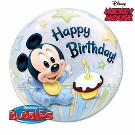 p 1 2 9 4 1294 Bubble Ballon 1st Birthday Boy