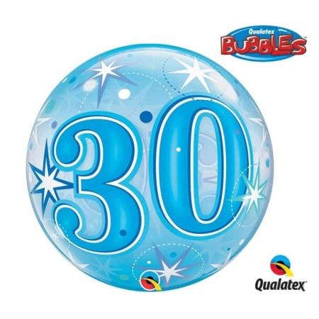 p 2 1 3 7 2137 Bubble Ballon 30 Blau