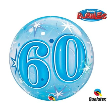 p 2 1 3 1 2131 Bubble Ballon 60 Blau