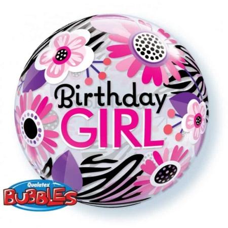p 1 3 3 3 1333 Bubble Ballon Birthdaygirl 22