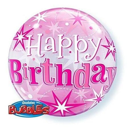 p 2 1 4 4 2144 Bubble Ballon Happy Birthday Pink