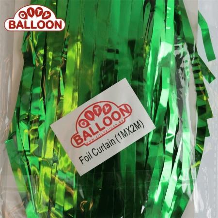 foil curtain 1x2 grün verpackt