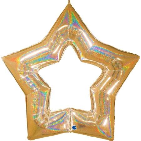 G75662GHG Linky Star Glitter Gold
