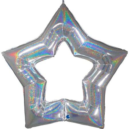 G75669GHS Linky Star Glitter Silver