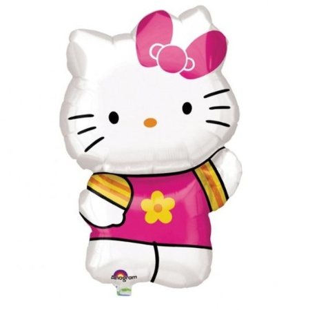 hello kitty summer supershape foil balloon amscan 41x63 cm 27476