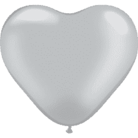 Herzballon Silber 1