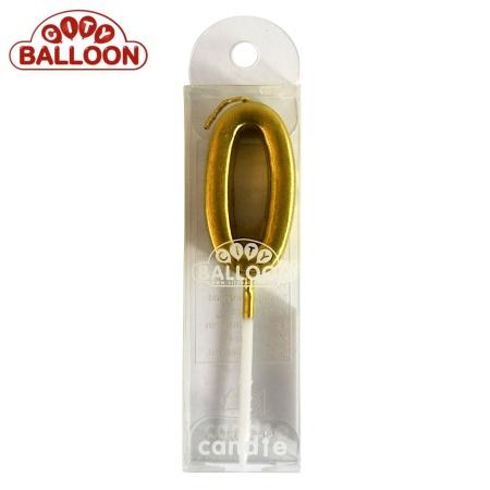Kerze gold 0