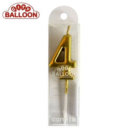 Kerze gold 4