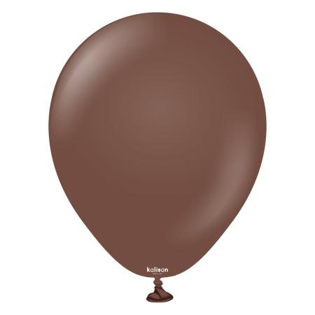 latexballon chocolate brown 5inc