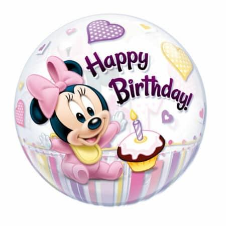 p 1 2 9 5 1295 Bubble Ballon 1st Birthday Girl 22