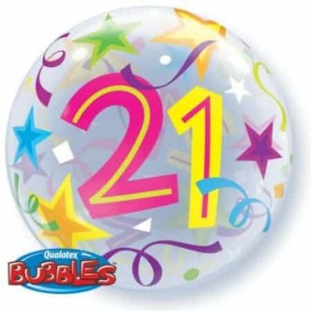 p 1 3 0 5 1305 Bubble Ballon 21 Geburtstag 22