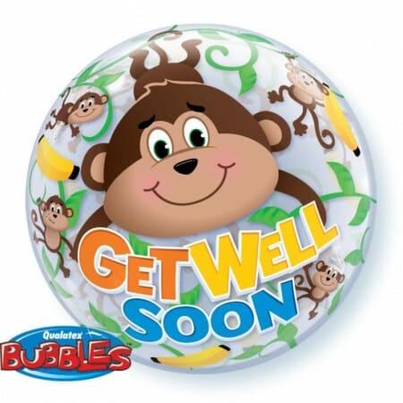 p 1 3 3 1 1331 Bubble Ballon GET WELL SOOn Aeffchen 22