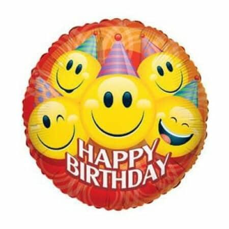 p 1 4 5 0 1450 Happy Birthday Smileys 36914cm