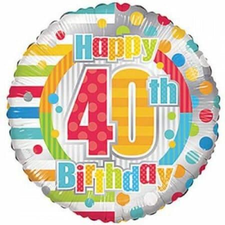 p 1 6 8 3 1683 Happy 40th Birthday 1846cm