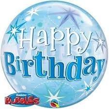 p 2 1 4 5 2145 Bubble Ballon Happy Birthday Blau