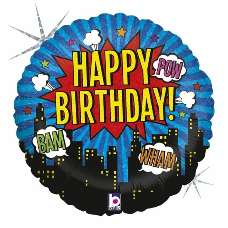 """Happy Birthday 18""""/46cm"""