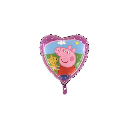 palloncino 18 mylar peppa pig heart