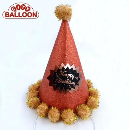 Party Hat Fancy orange