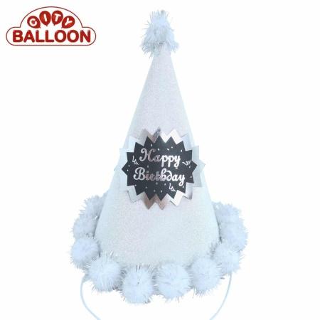 Party Hat Fancy Silber