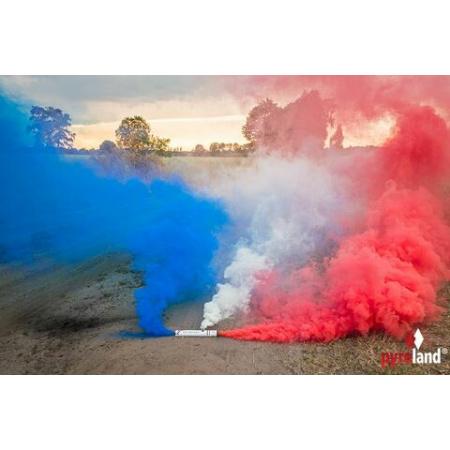 Rauchflagge Blau/Weiß/Rot 40 Sekunden
